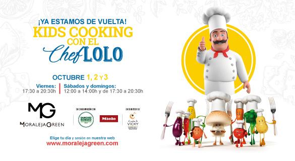 Kids cooking Master Chef solidario en Moraleja Green
